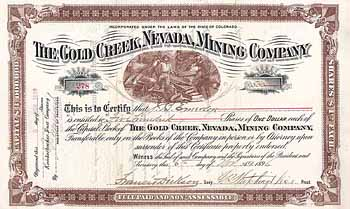 Gold Creek, Nevada, Mining Co.