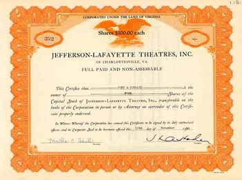 Jefferson-Lafayette Theatres, Inc.
