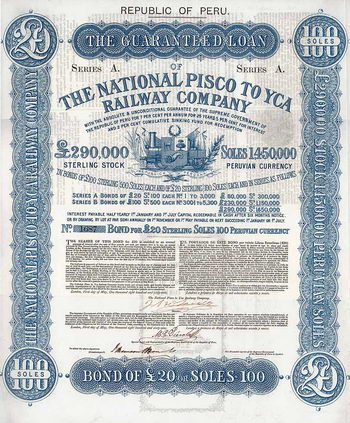National Pisco to Yca Railway