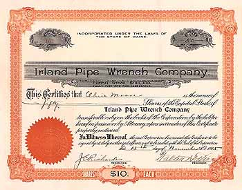 Irland Pipe Wrench Co.