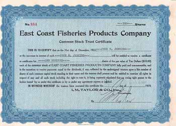 East Coast Fisheries Products Co.