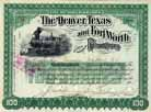 Denver, Texas & Fort Worth Railroad