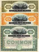 New Orleans, Mobile & Chicago Railroad (3 Stücke)