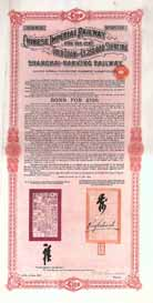 Chinese Imperial Railway Gold Loan (Shanghai-Nanking Railway) III