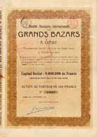 S.A. Internationale des Grands Bazars a Liege Anciennement S.A. du Grand Bazar de Francfort-sur-Mein