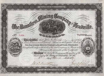 Dauntless Mining Co. of Leadville Colorado