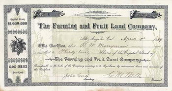 Farming & Fruit Land Co.