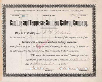 Carolina & Tennessee Southern Railway