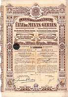 �tat de Minas Geraes Emprunt de Conversion 4,5 % Or 1910